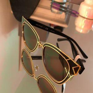 New Tory Burch Sunglasses Black/Brown/Gold